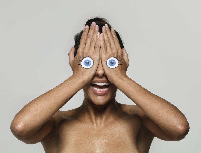 Augen Hand Gesicht