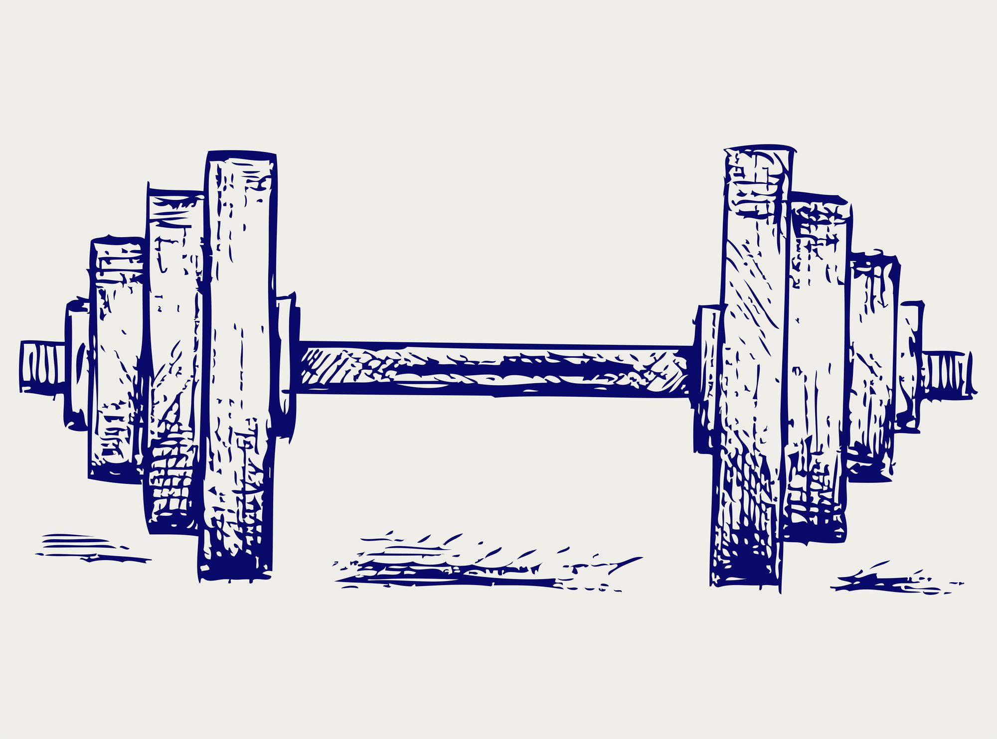 Hantel Gewicht Zeichnung