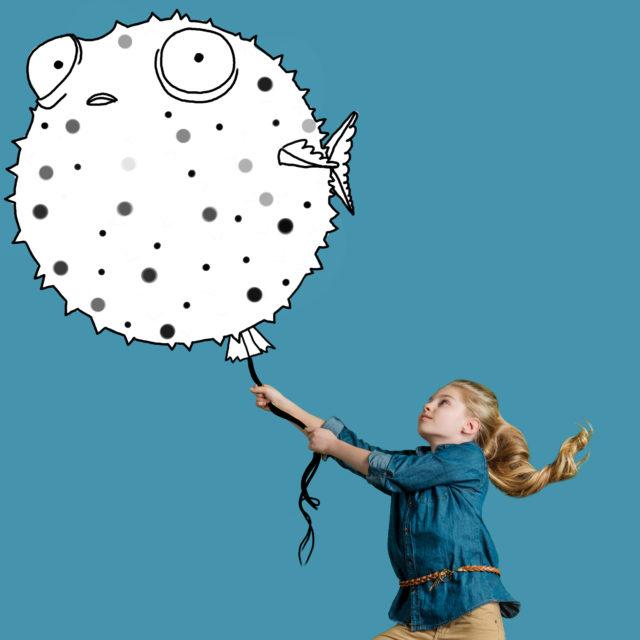 Kind Kugelfisch Ballon