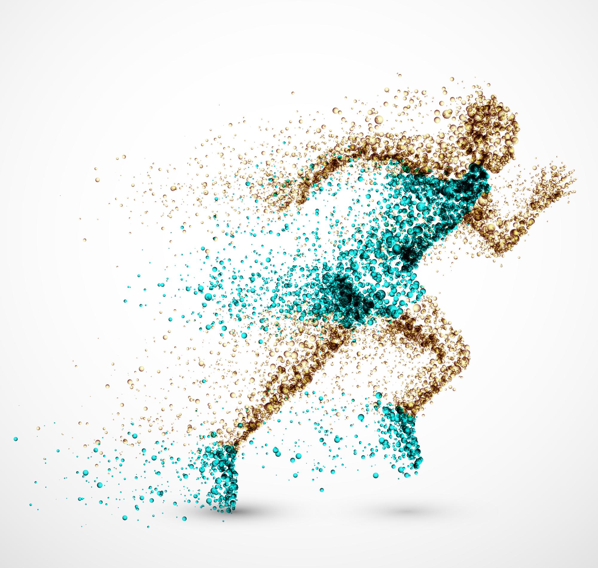 Mensch Laufen Illustration