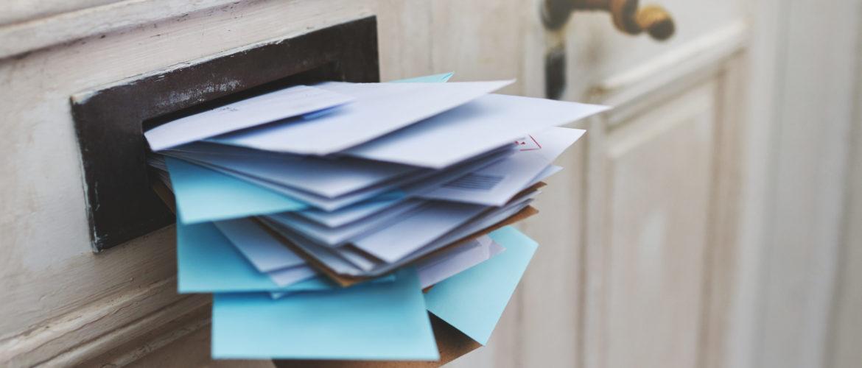 Tür Post Briefe