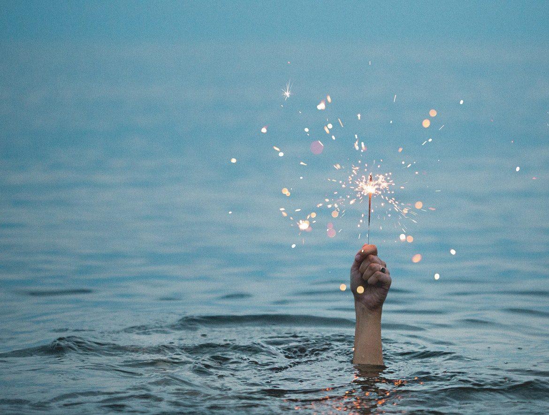 Wasser See Hand Wunderkerze