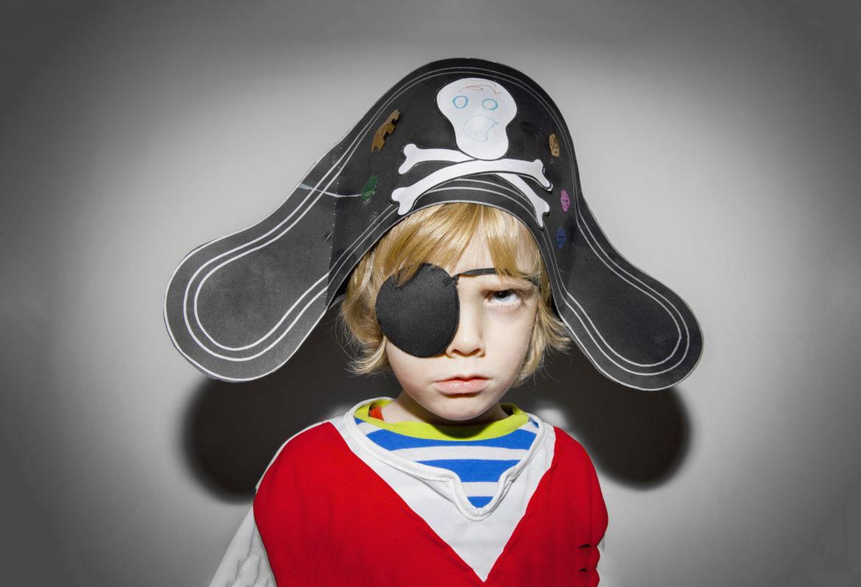 Kind Augenklappe Pirat