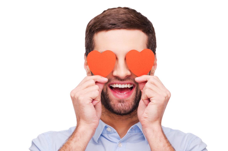 Mann Herz Auge