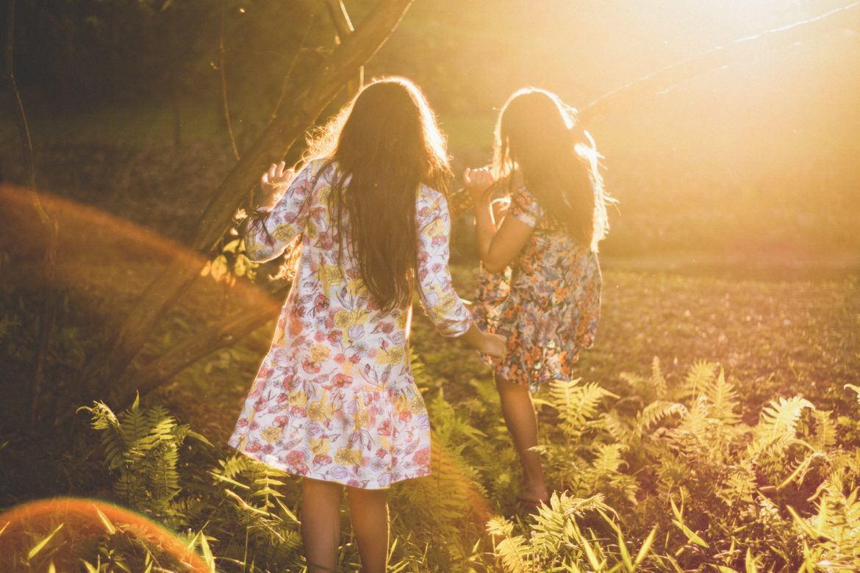 Mädchen Sommerkleid Natur
