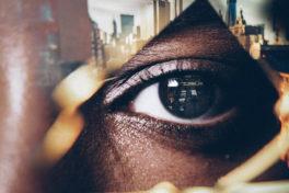Auge Spiegelung Stadt