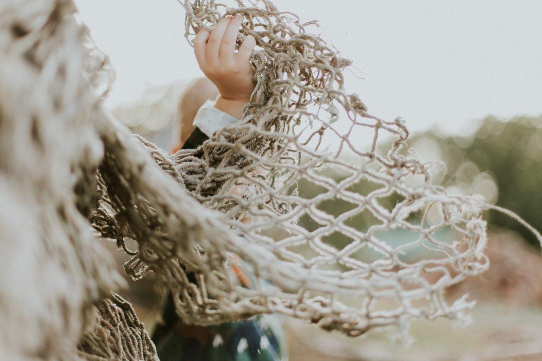 Hand Festhalten Netz