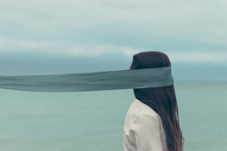 Frau Augenbinde Nicht Sehen