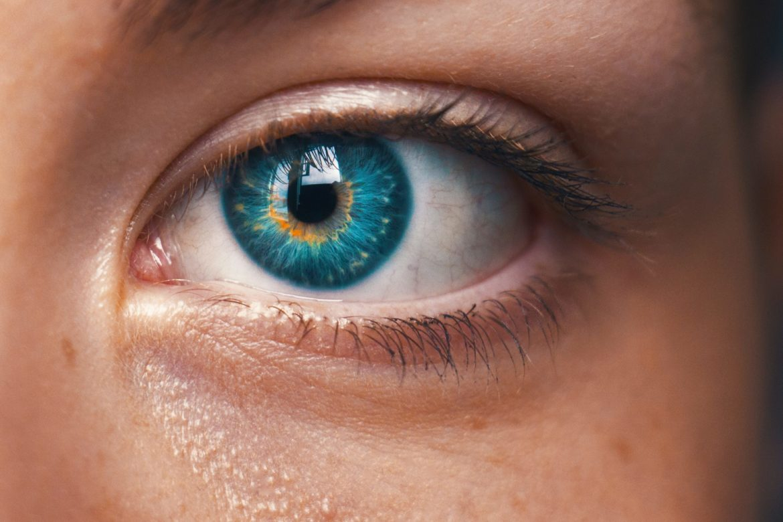 Auge Blau Nahaufnahme