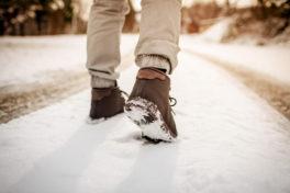 im Schnee gehen