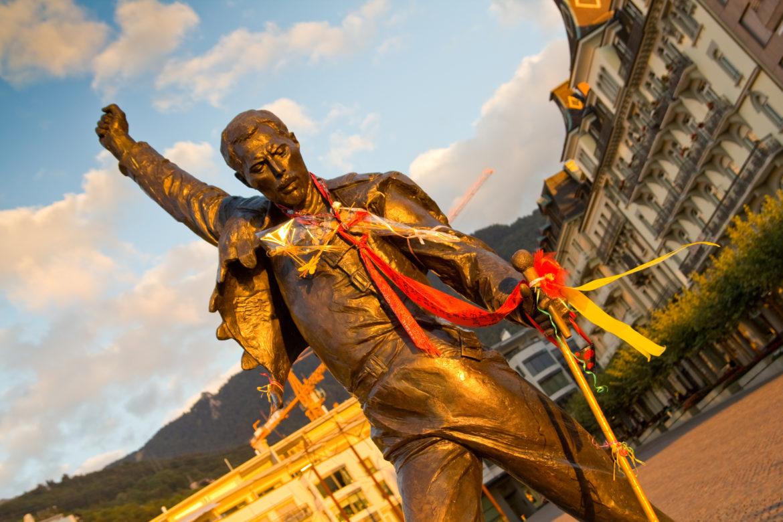 Statue von Freddie Mercury in Montreux
