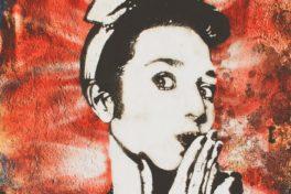 Frau auf Plakat