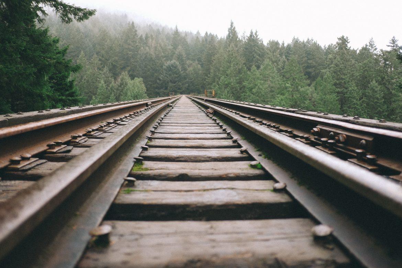 Gleise in Landschaft