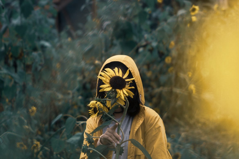 Mensch im Garten