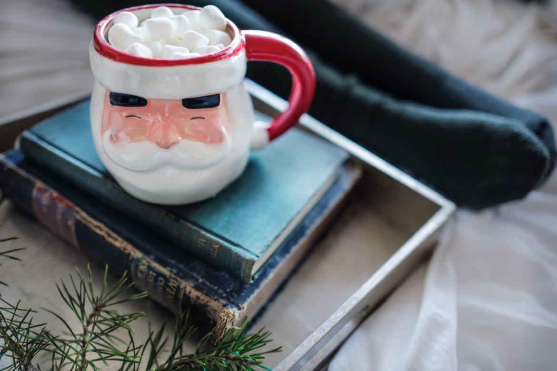 Weihnachten Tasse Buch