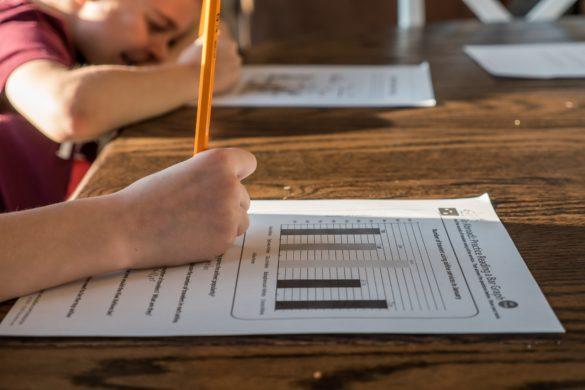 Kinder beim Hausunterricht - Homeschooling