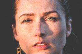 Gesicht von Frau