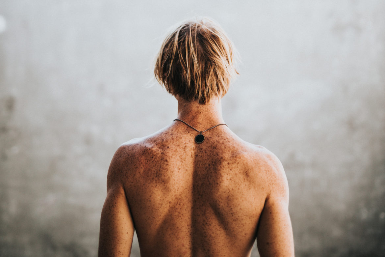 Rücken von Mann