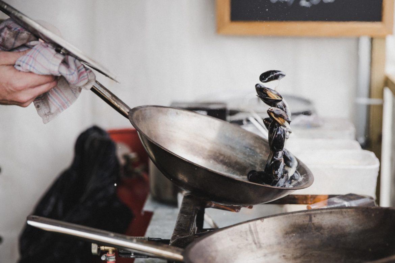 Pfanne beim Kochen