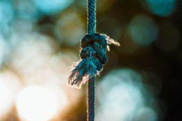 Knoten in Seil