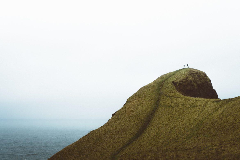 Menschen auf Berg
