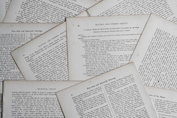 Zettel mit Schrift