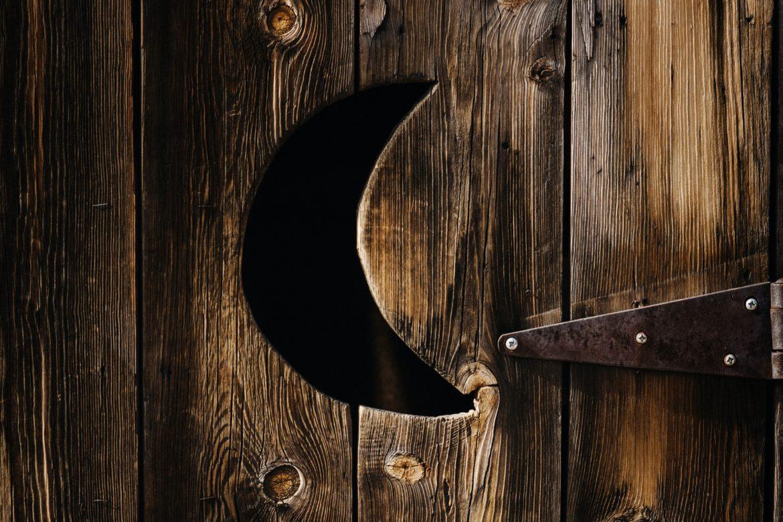 Tür von Toilette